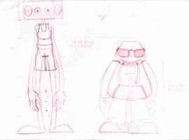 Animation Character Design - LineUp