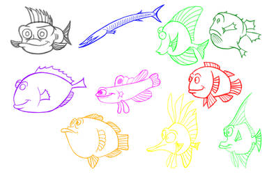 Fish Sketches - 2