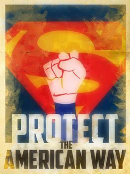 Heroes Protect - Superman - American Way