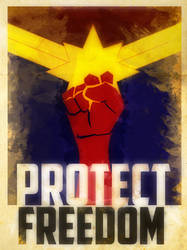 Heroes Protect - Captain Marvel - Freedom