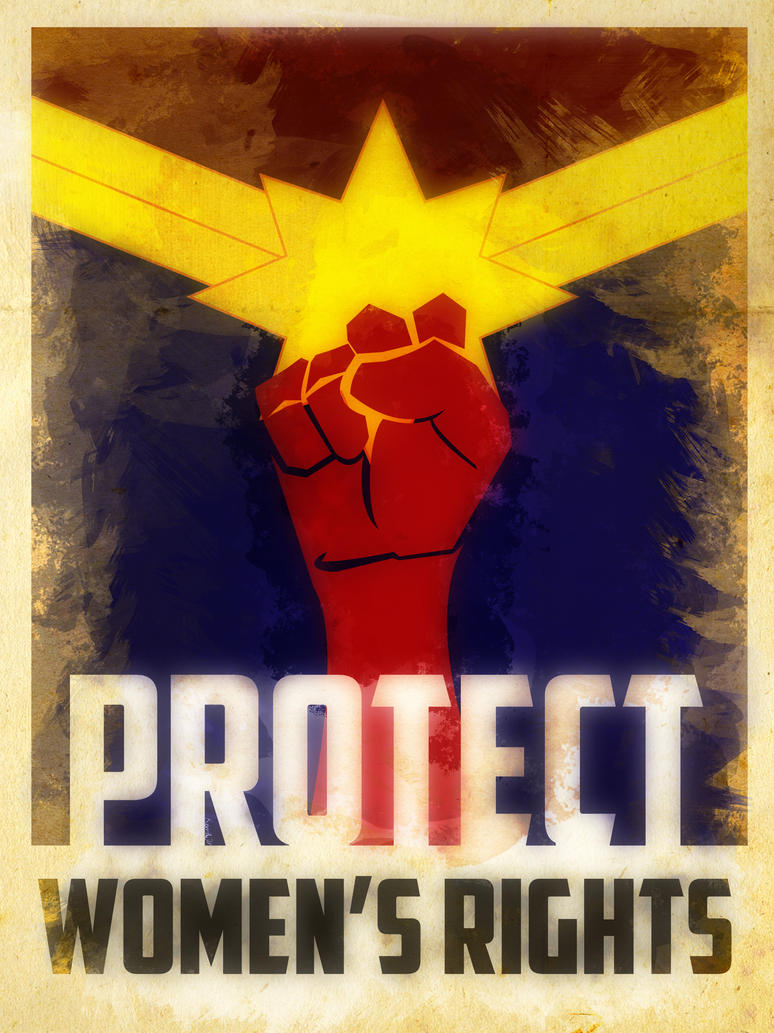 Heroes Protect - Captain Marvel - Women's Rights by KerrithJohnson
