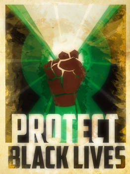 Heroes Protect - Green Lantern - Black Lives
