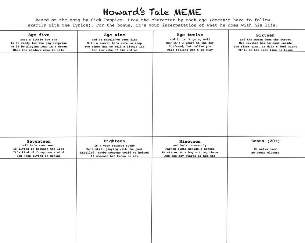 Howard's Tale meme -blank- by MonMonMouse