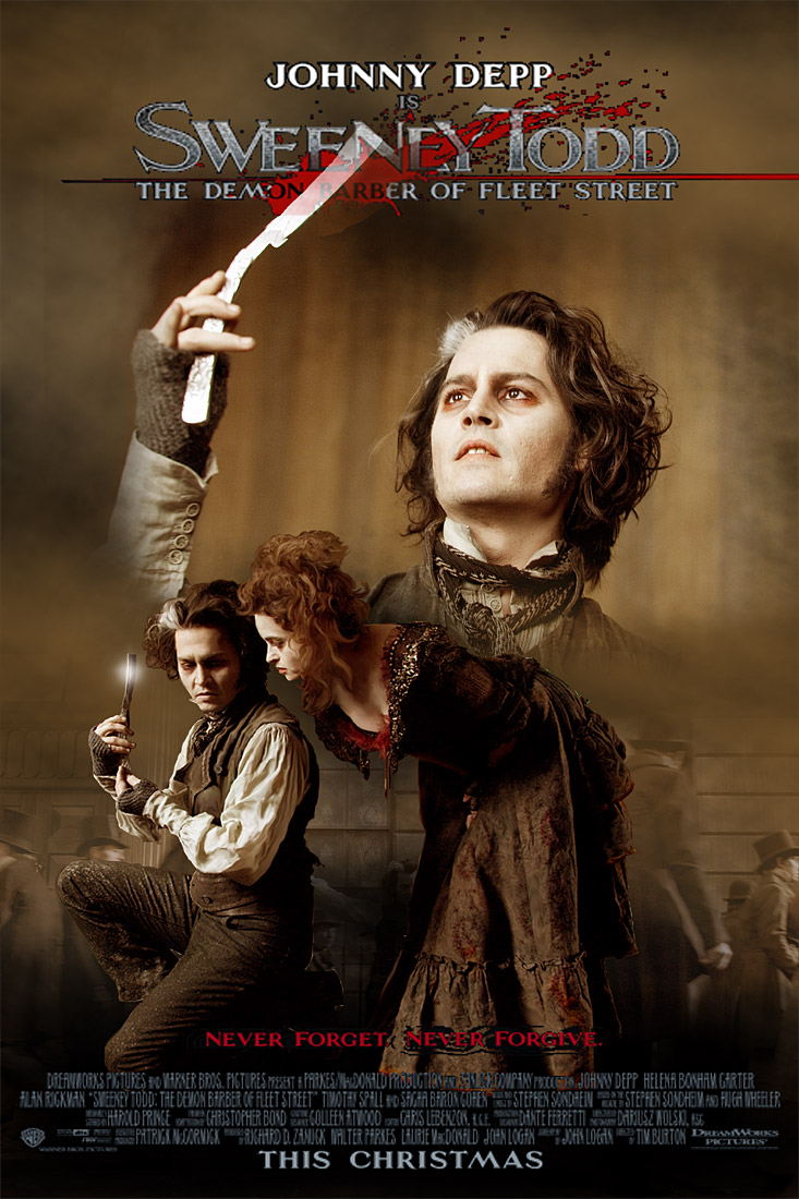 sweeney todd movie poster 1 by zoozee on deviantart