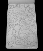 Snake tattoo sketch by psychopunkpk1