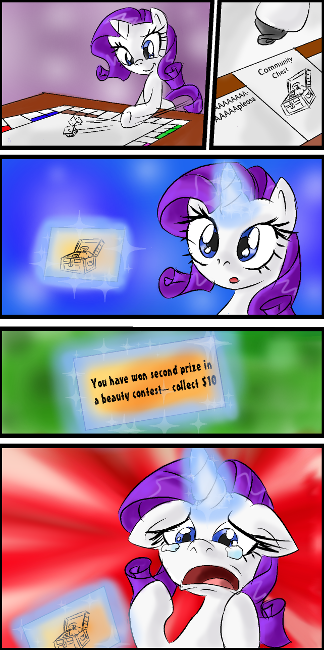 Rarity plays Monopoly by Supersheep64