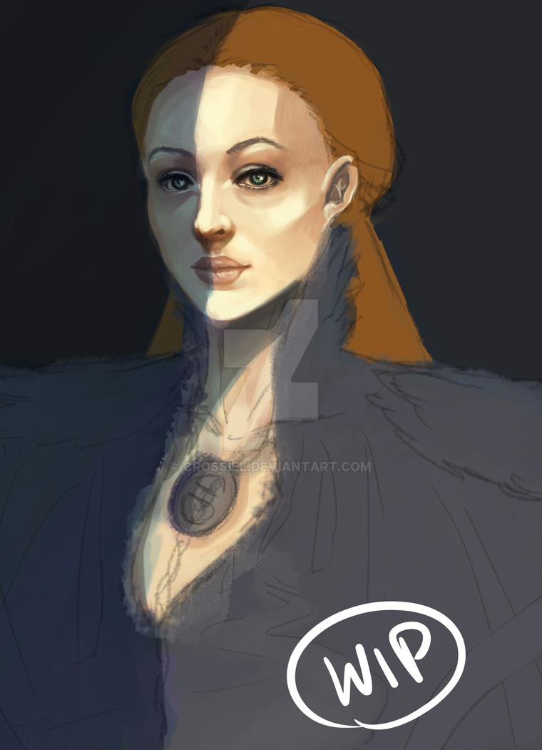 Sansa Stark WIP by Crossiel