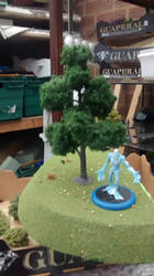 hill and new tree.. with mini fro scale.