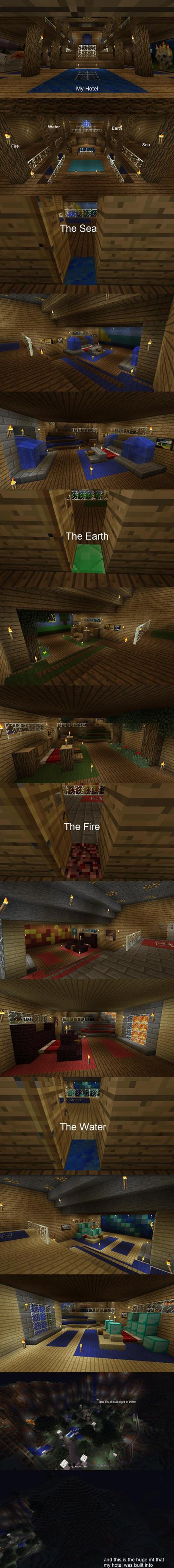 Minecraft Hotel by TheDarknessWolf