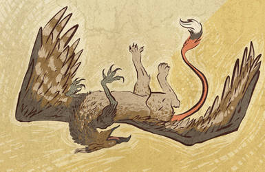 Happy Griffin by ceallach-monster