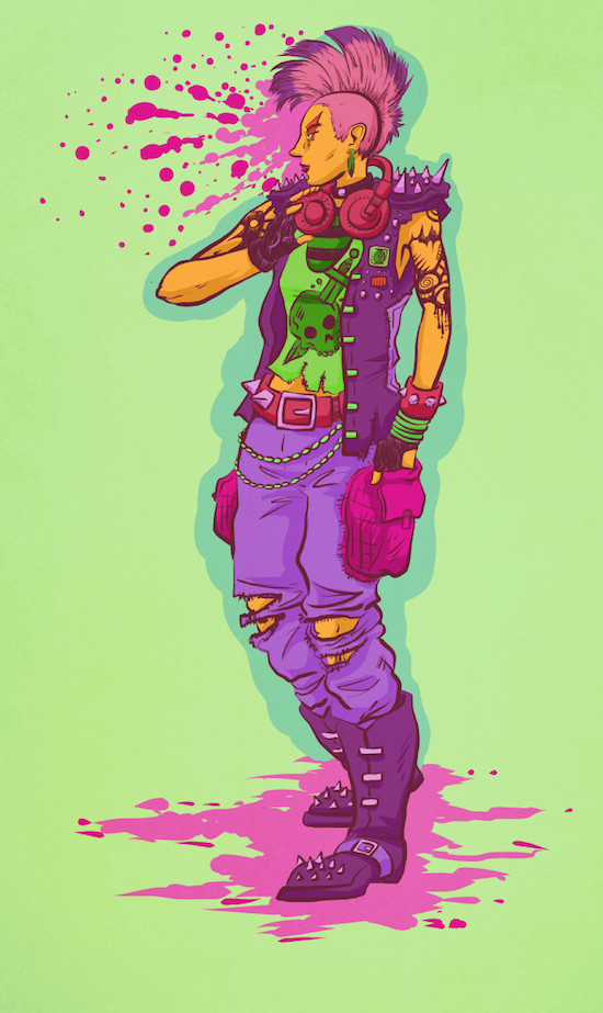 colorful punk by ceallach monster on deviantart