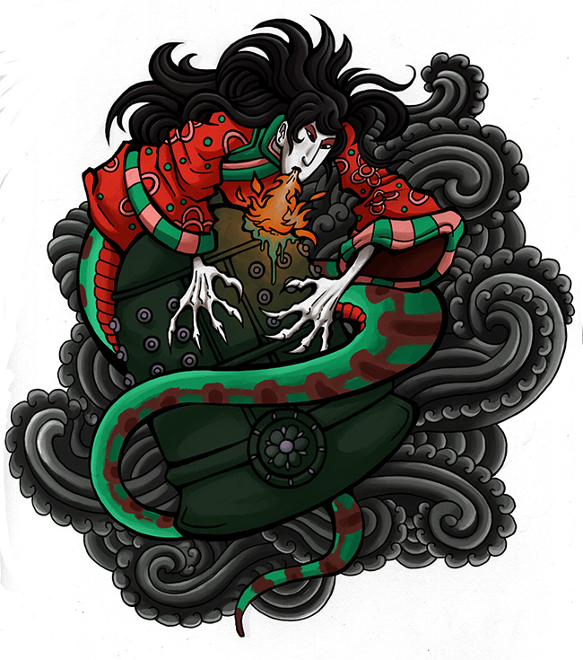 Resultado de imagen de Kiyohime tattoo