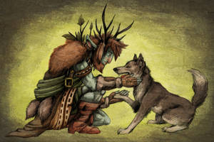 Firbolg and Wolf