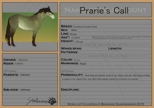 Prarie's Call registration