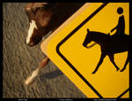 Orig - Caution: Horse Crossing