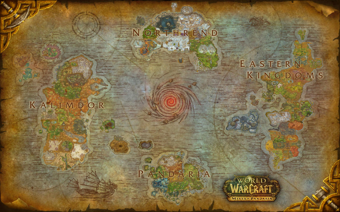 World Of Warcraft Azeroth Composite Map By Amiyuy On