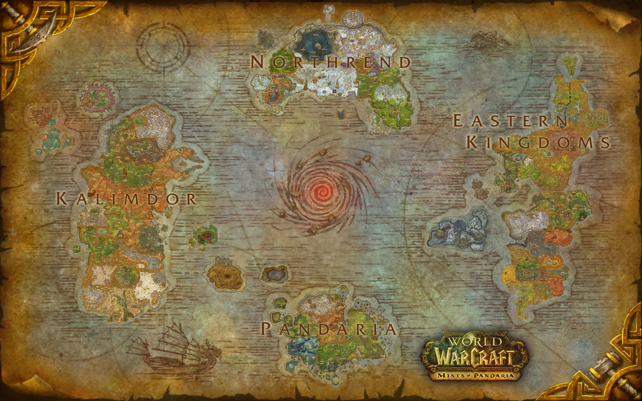 World of Warcraft Azeroth Composite Map by amiyuy on DeviantArt