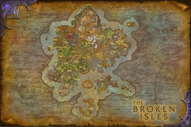 World of Warcraft The Broken Isles Composite Map by amiyuy