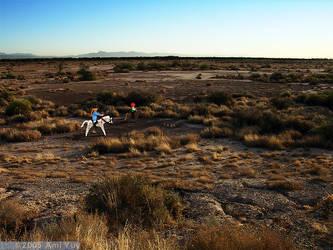 Desert travelers by amiyuy