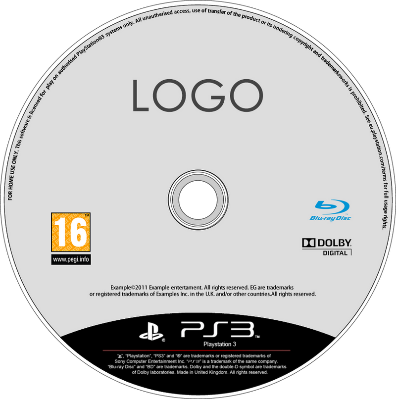 Latest PS3 Disc Template (PNG FW file) by dAsh1412 on ...