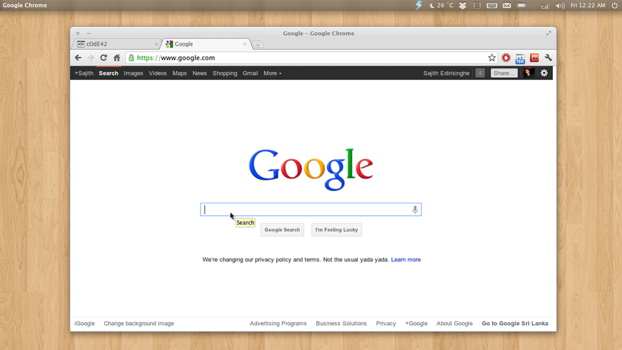 Elementary Chrome theme by sajithd