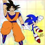 Sonic and Goku heroes unite