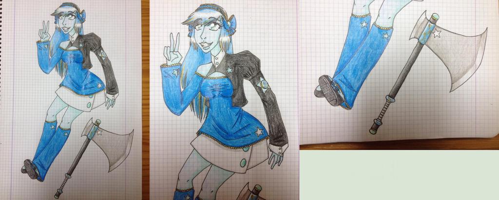 Steven Universe: custom gem OC Turquoise by EddaAkatsukiller