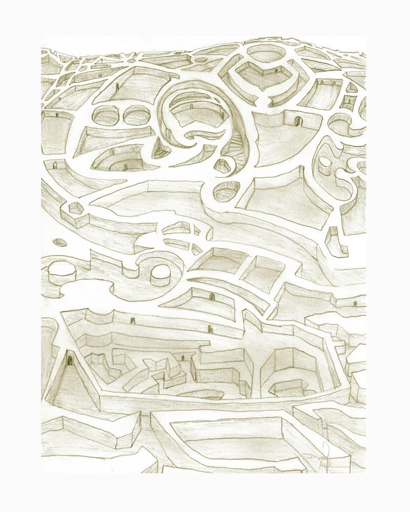 maze sketch by LongHomeFox