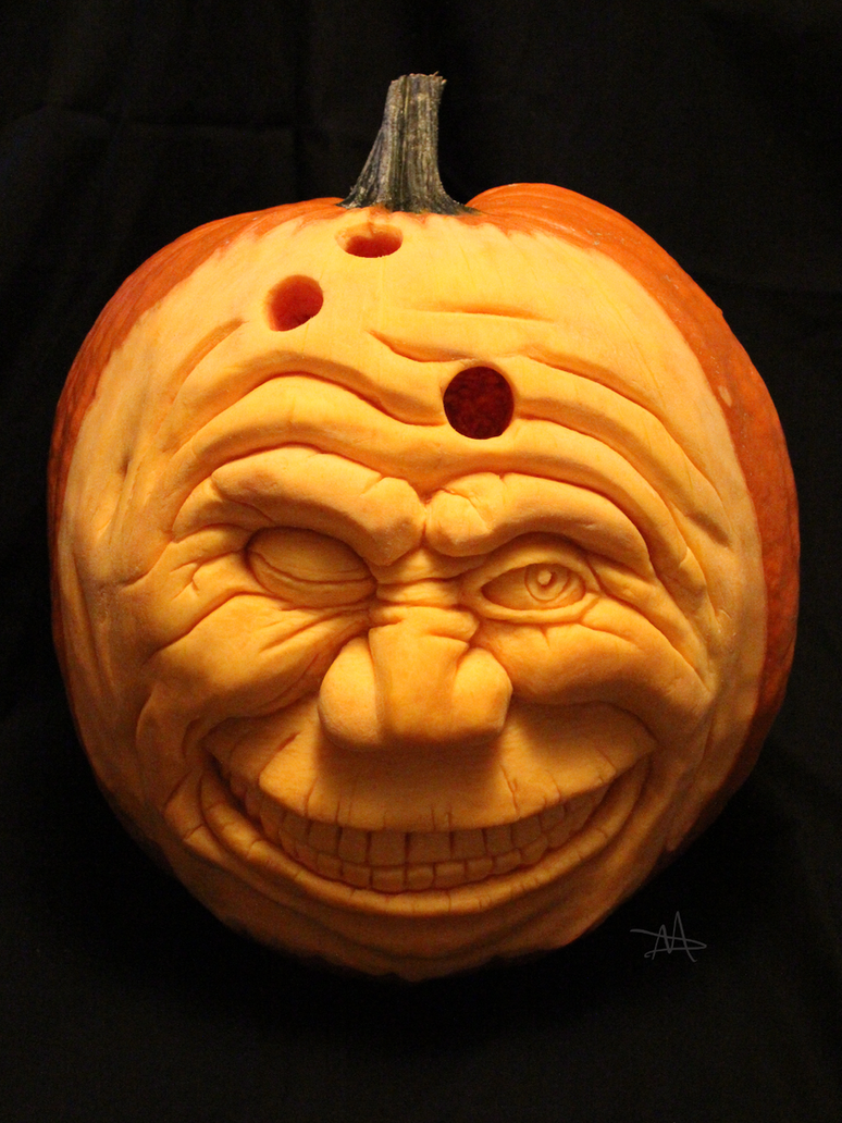 Bowling Ball Pumpkin Head by DaveMishra
