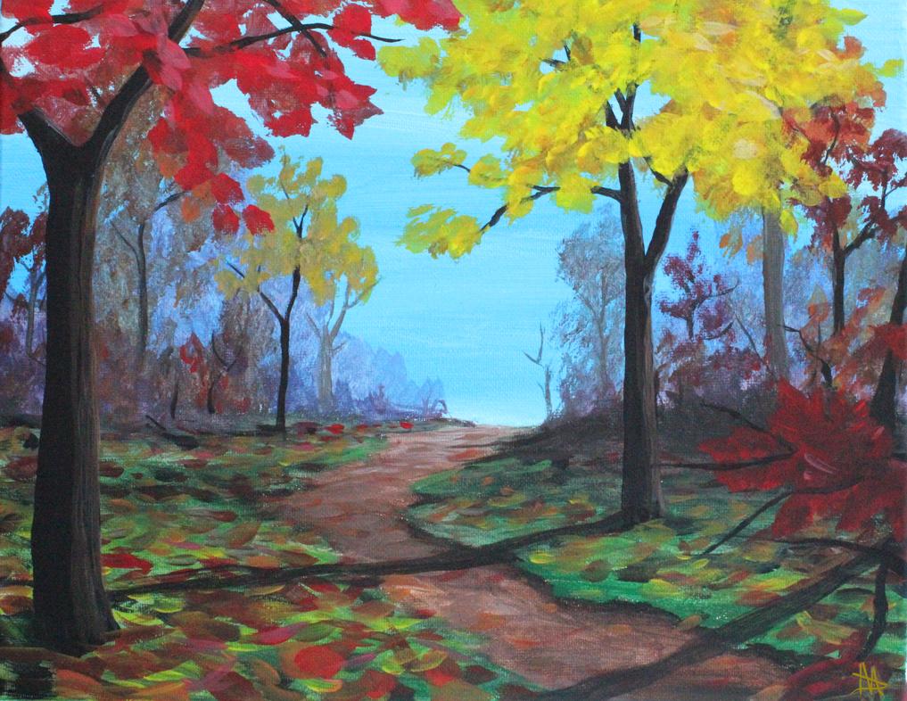 Autumn Path by LongHomeFox