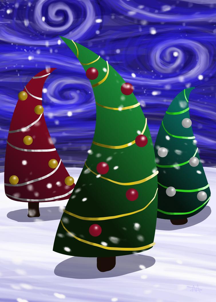 Christmas Trees by LongHomeFox