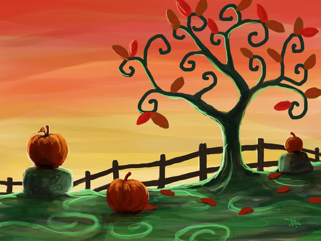 Autumn Tree by LongHomeFox
