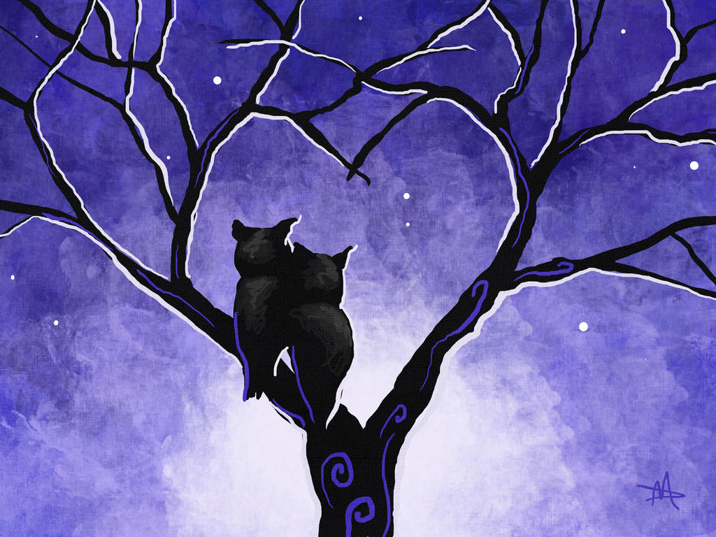 Winter Owls by LongHomeFox