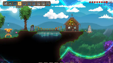Terraria Otherworld Cliff