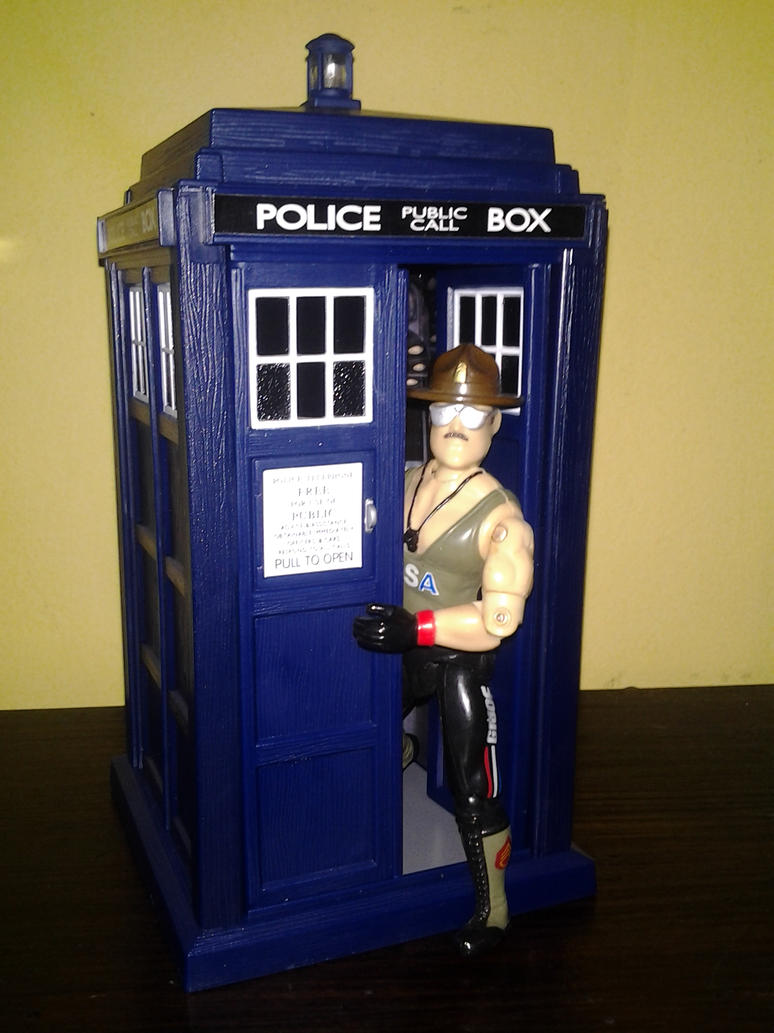 Spin and Fly Tardis And GI Joe by DoctorWhoNC