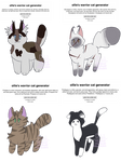 Warrior cat Generator Adopts (4/4 OPEN) by KiwiKandyy