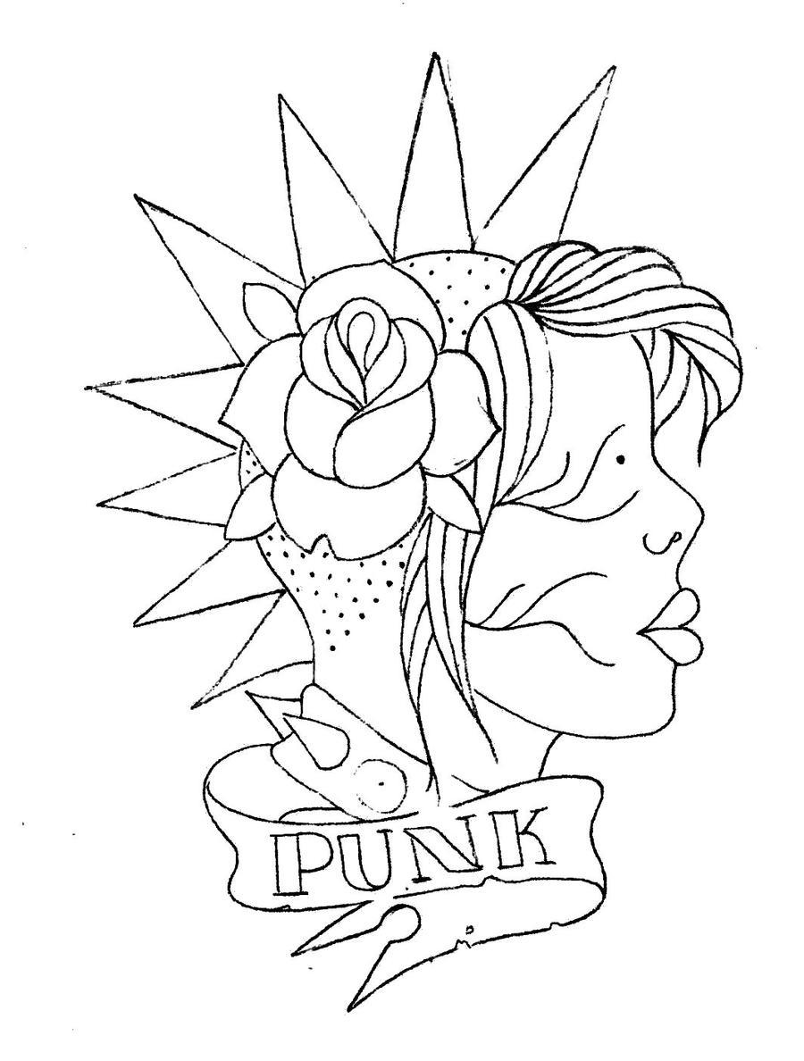 Punk Rock Girl By Fspunx Designs Interfaces Tattoo Design 2010 2015