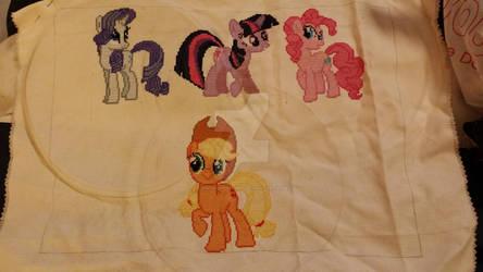 Pony cross stitch: My progress so far!