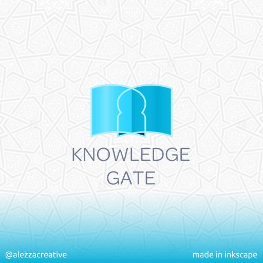 Knowledge gate logo by alezzacreative
