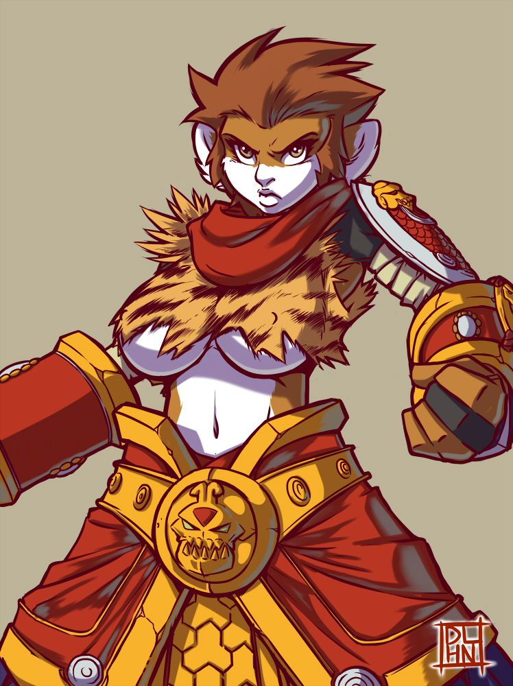 Alizee's Wukong Costume by Dalehan