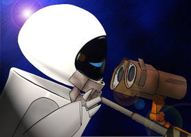 Wall-e loves Eve by Soldier1rsZackFair