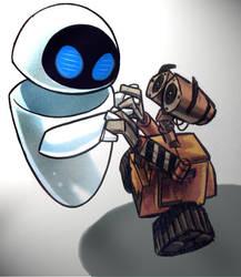 Wall-e+Eve by Soldier1rsZackFair