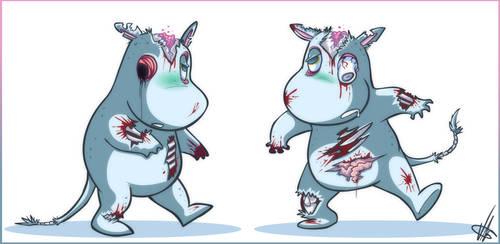 Cochibi:: Zombie Moomin by vaporotem