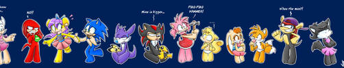 Sonic Kids Chars by vaporotem