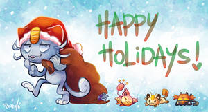 Happy Holidays Cats! by vaporotem
