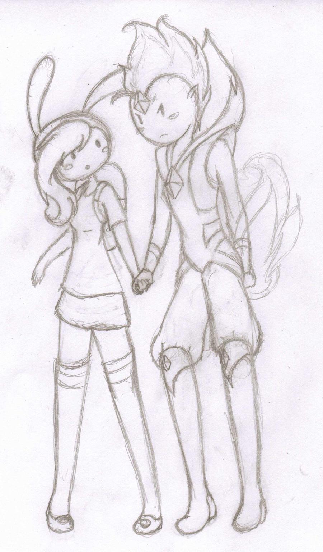 Fionna and Flame Prince by PKFoxas