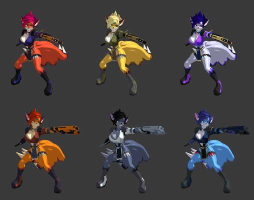 Tenko Ninja Color Palettes