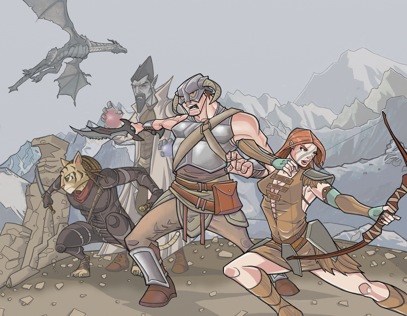 Skyrim in full-color by davidstonecipher