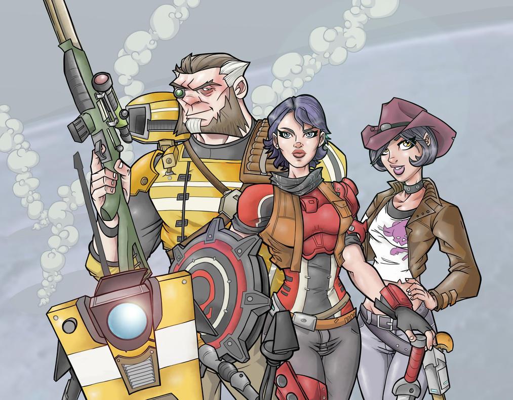Borderlands: The Pre-Sequel launch artwork by davidstonecipher