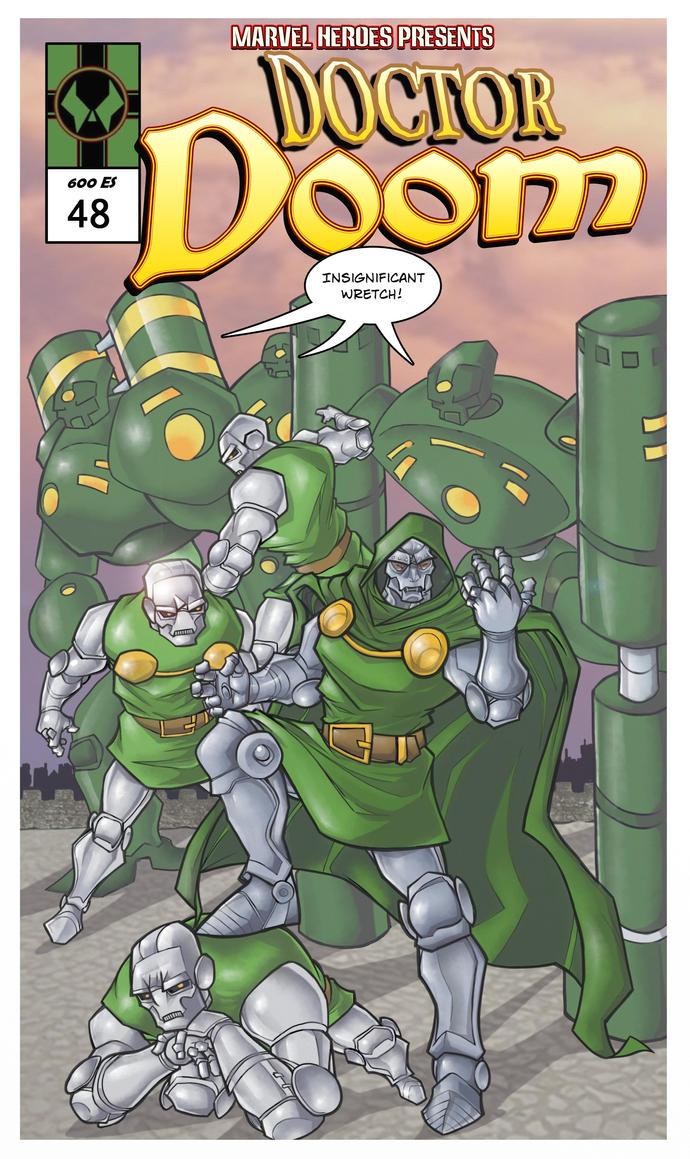 Doctor Doom mock comic cover by davidstonecipher